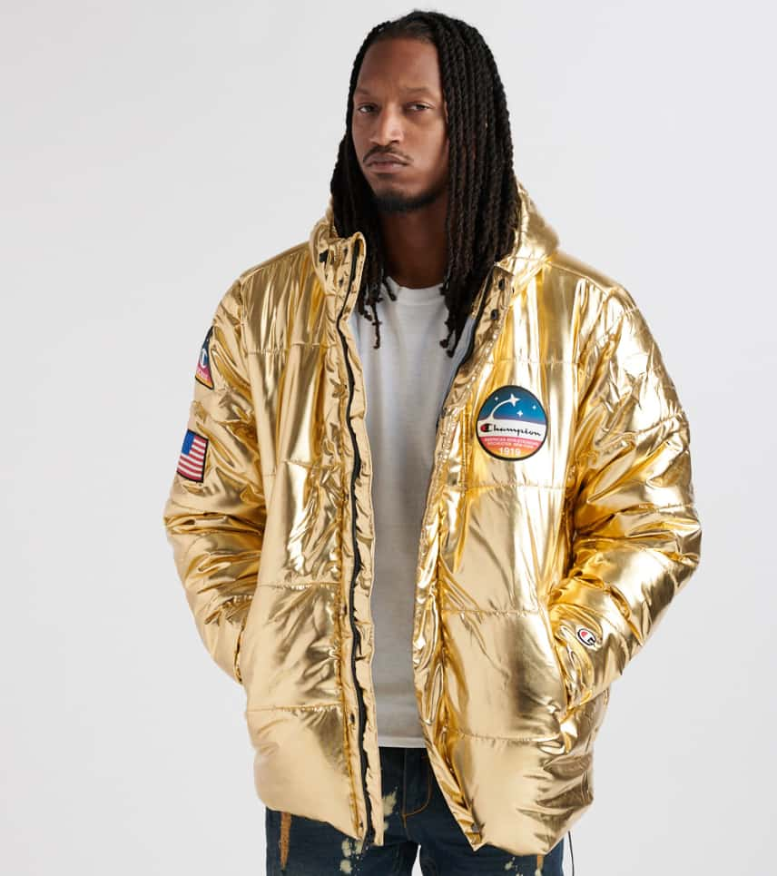 968db91d1 Metallic Puffer Jacket
