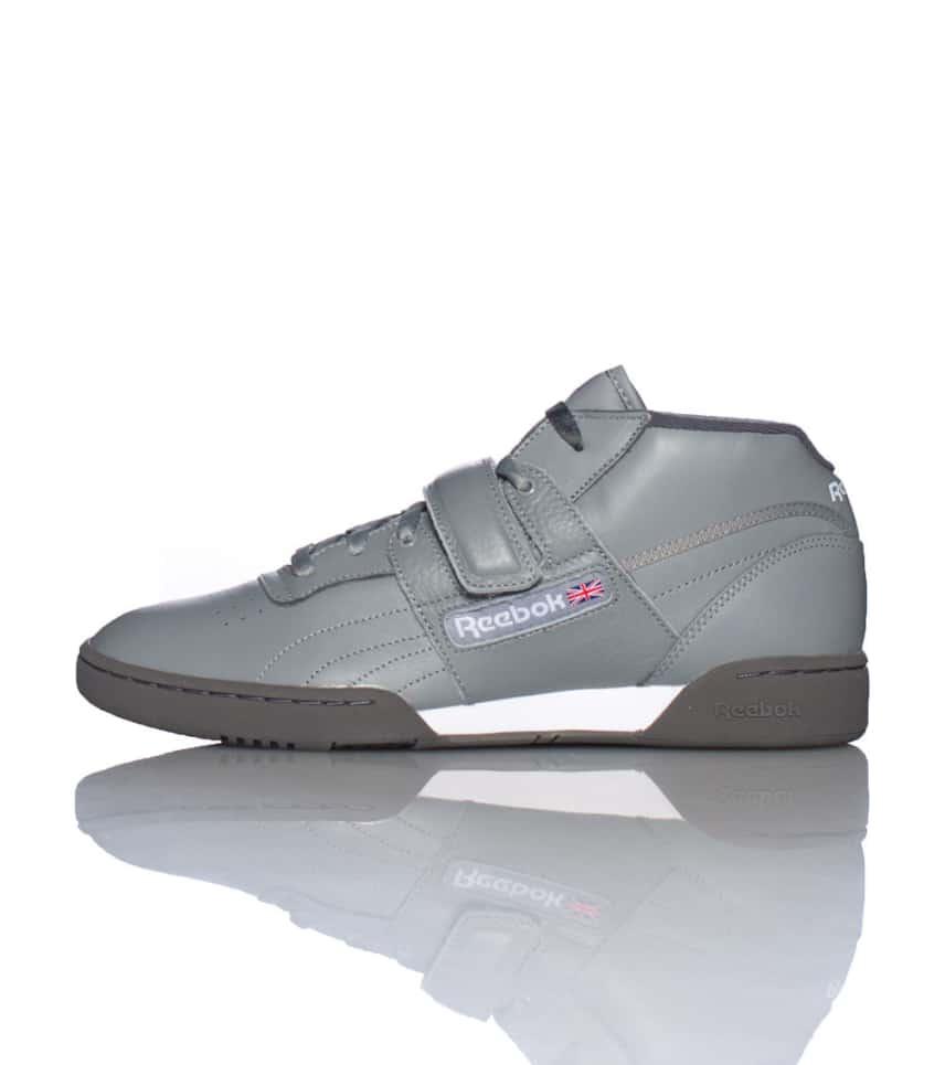 308040027711f Reebok Workout Mid Strap Sneaker Grey V56109 Jimmy Jazz