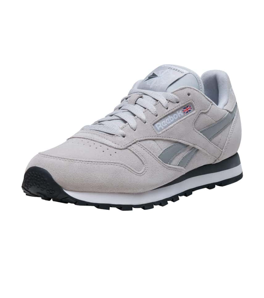 Reebok CLASSIC LEATHER SUEDE SNEAKER (Medium Grey) - V67589  112121455
