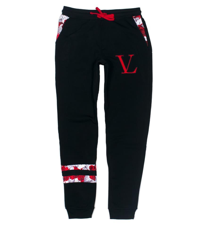 13d963af8323 VAMPIRE LIFE Roses Fleece Pants (Black) - VD141502V
