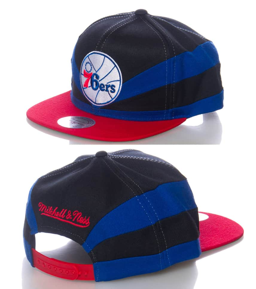 7d5eb00704e54b MITCHELL AND NESS PHILADELPHIA 76ERS NBA SNAPBACK CAP (Blue ...