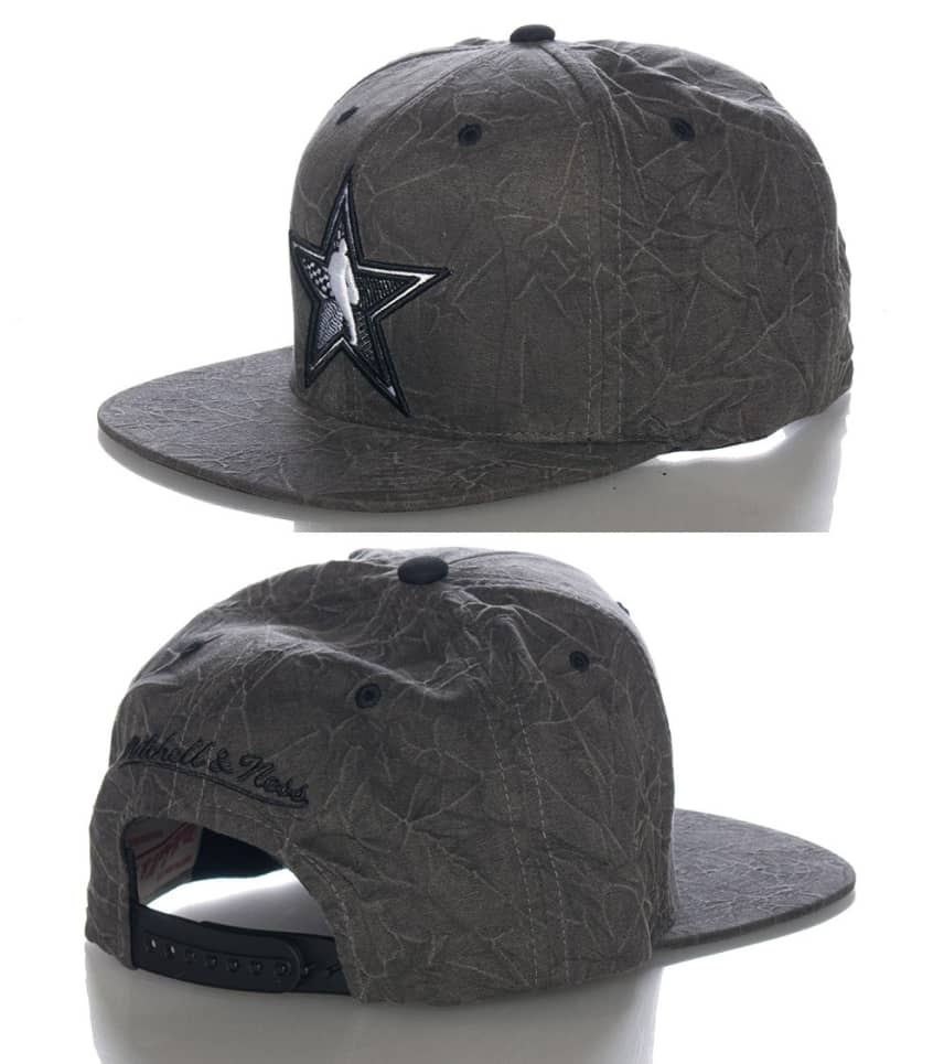 f1862835 NBA ALL STAR CREASED PRINT SNAPBACK CAP