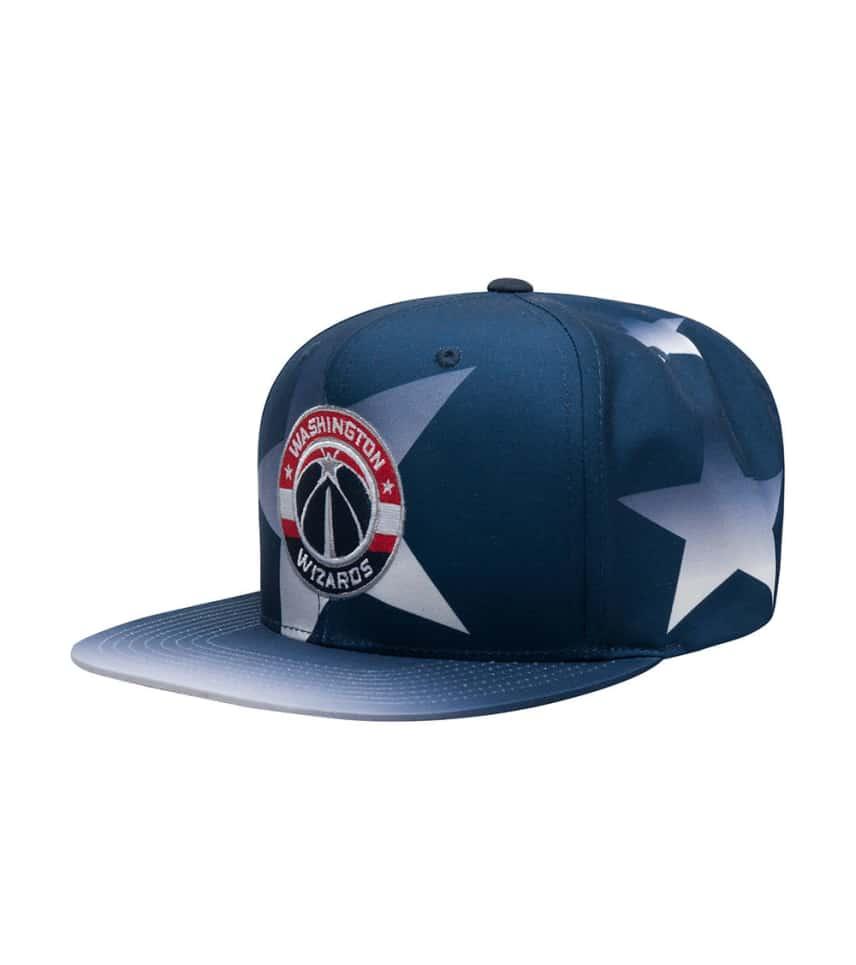 b262a67fbb Mitchell and Ness WASHINGTON WIZARDS SNAPBACK HAT (Blue ...