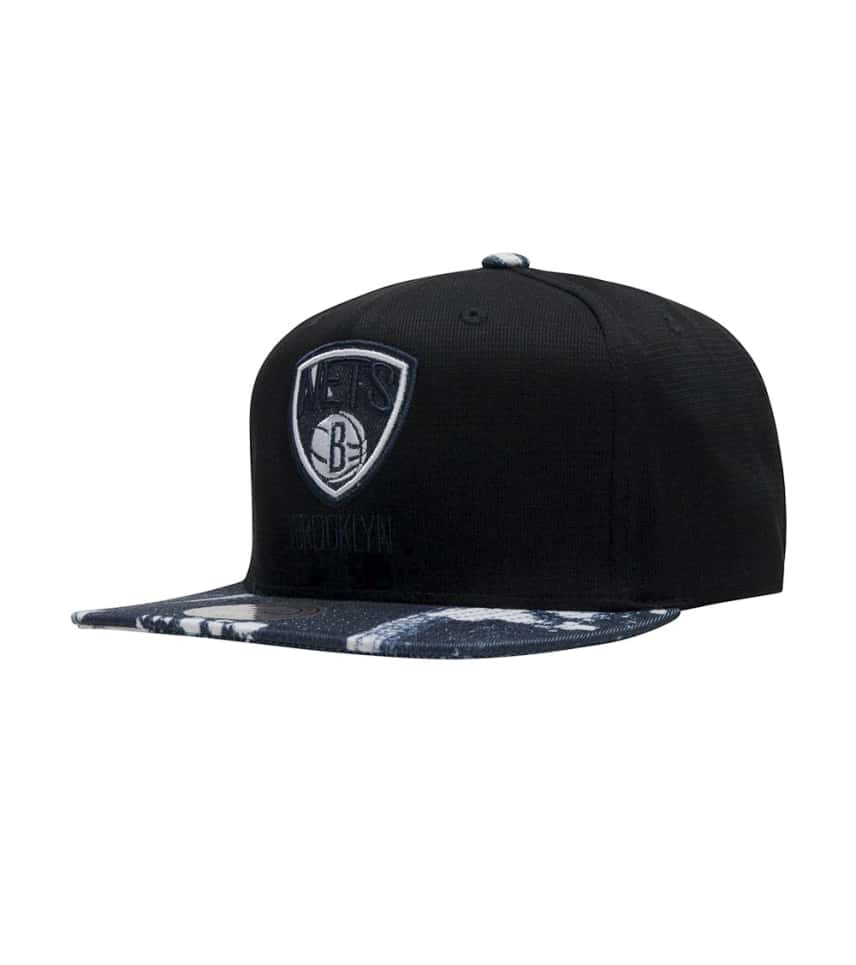 bd5c34e1d7efa2 Mitchell and Ness Brooklyn Nets Stained Denim Snapback (Black ...