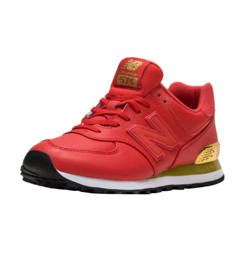 5f588237dfe7ea New Balance 574 Gold Dip (Red) - WL574URA