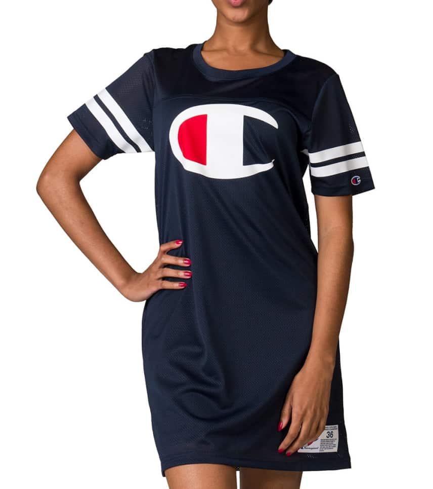 61f17a9c Champion Mesh Jersey Logo Dress (Navy) - WL9904   Jimmy Jazz