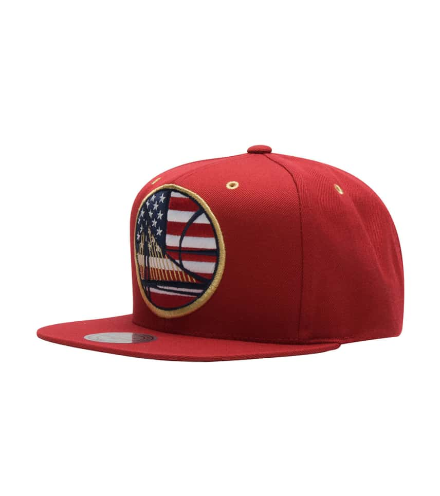 hot sale online 39121 a053f Mitchell and Ness Golden State Warriors Flag Snapback