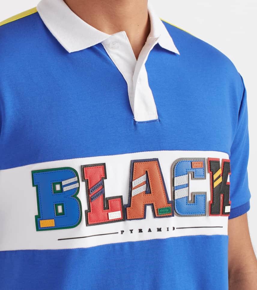 6713ccf9 Black Pyramid Short Sleeve Polo Shirt (Blue) - Y1161155-BLU | Jimmy Jazz