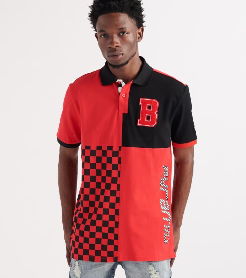 aea83619cf8d Black Pyramid Micro Checker Block Polo Shirt (Red) - Y1161362-RED ...