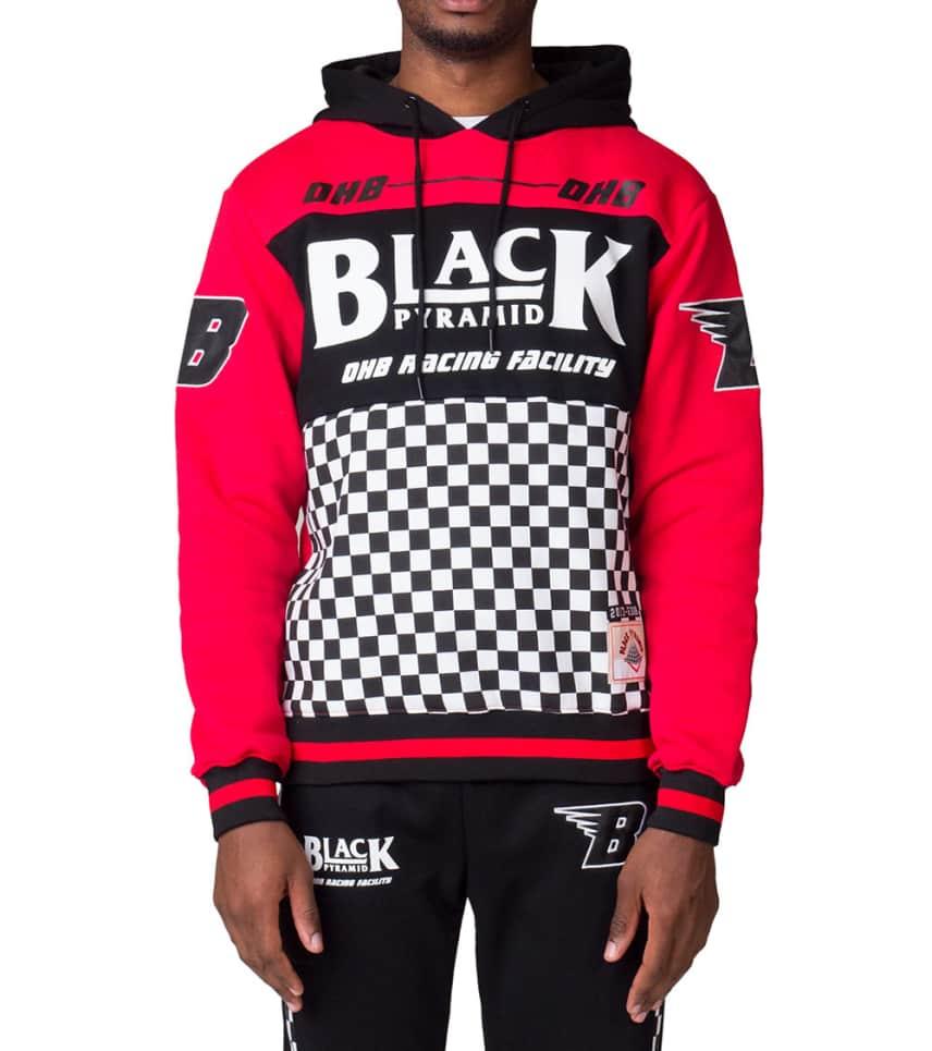 87128c6f711a Black Pyramid OHB Checker Pullover Hoodie (Red) - Y5160993