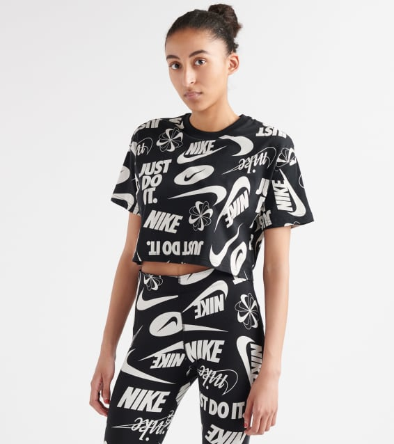 eb214b2f Nike Essentials All-Over Print Cropped Tee