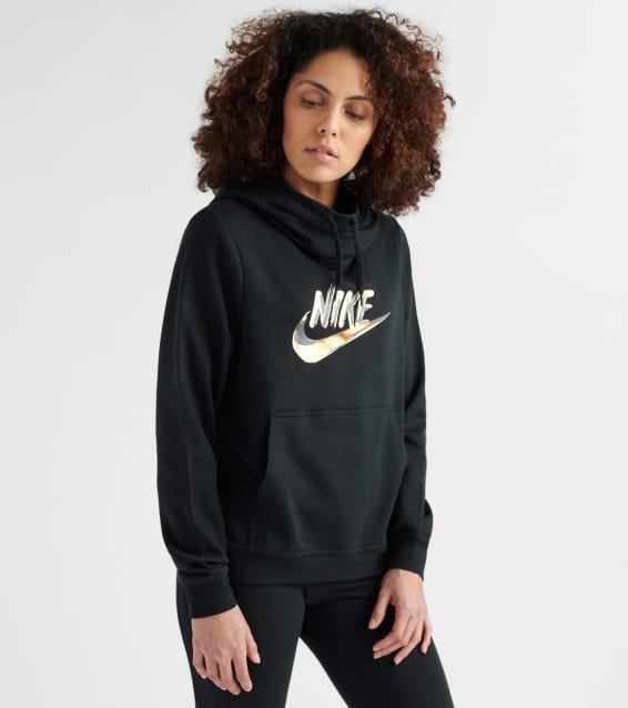 23b124d83ea746 Nike Metallic Swoosh Pullover Hoodie