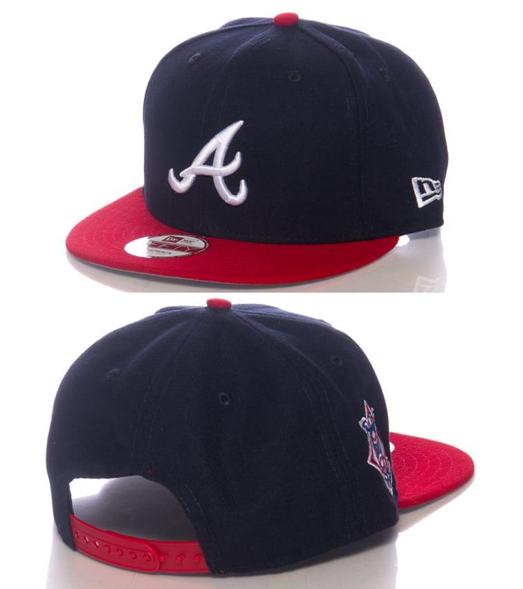 New Era Atlanta Braves Mlb Snapback Cap In Navy