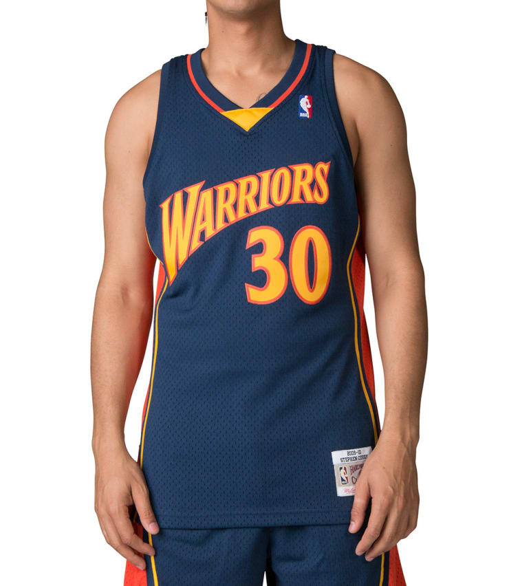 cheap for discount 97e1d 9a86c Mitchell And Ness Golden State Warriors Steph Curry Jersey (Navy) -  353J310FGYS | Jimmy Jazz