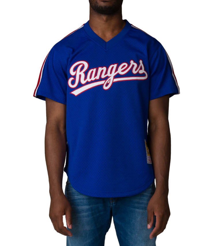 competitive price 19c09 87765 Mitchell And Ness Texas Rangers Jersey (Blue) - 562142689NR | Jimmy Jazz