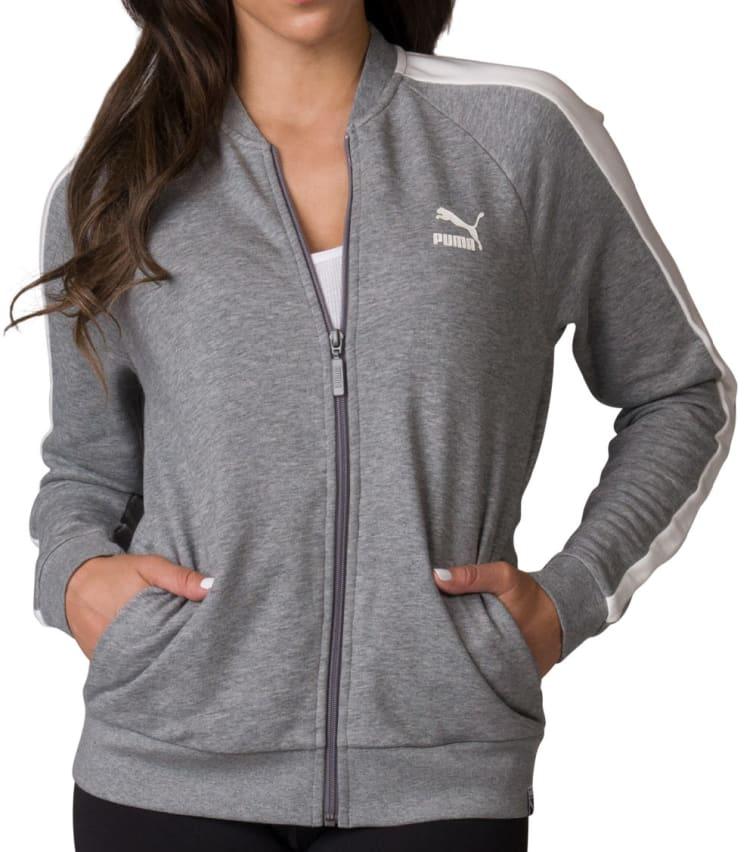 Puma T7 Track Jacket In Grey
