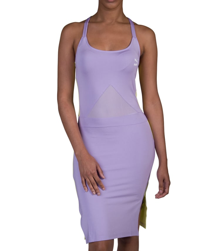 Puma Archive T7 Dress In Medium Purple