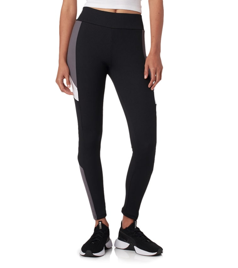 Puma Retro Rib Legging In Black