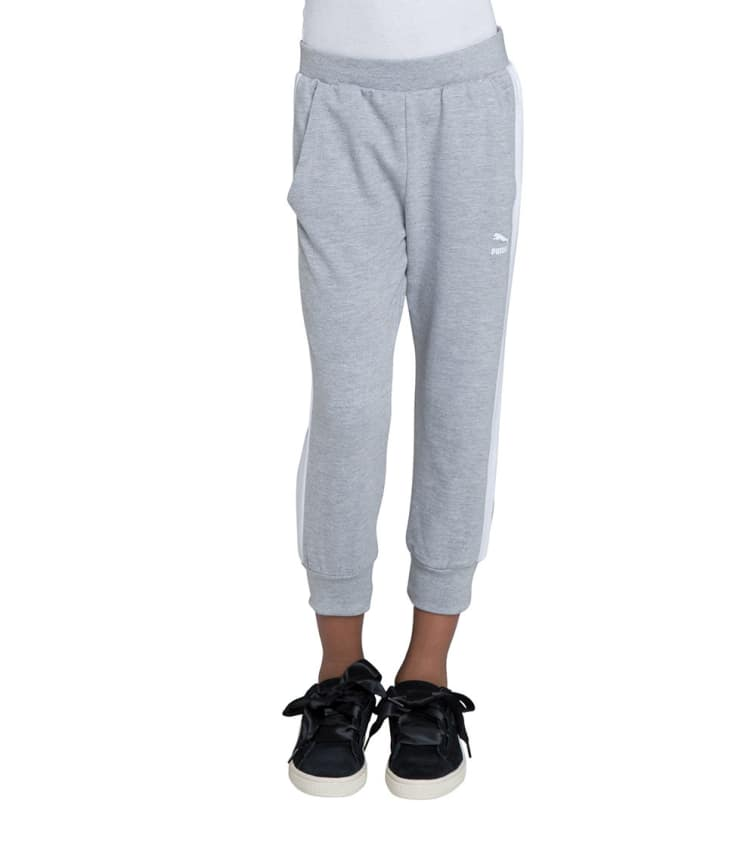 Puma Girls 7-16 Archive Logo T7  Capris In Grey
