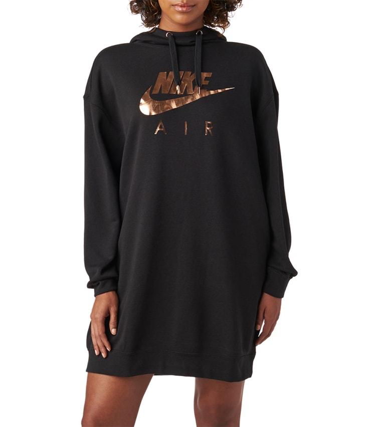 Nike Air Os Hoodie Dress In Black