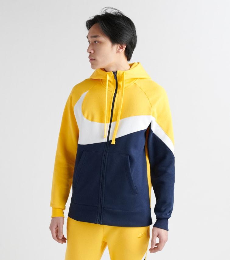 official site pretty nice cozy fresh Nike Swoosh Fleece Hoodie In Yellow | ModeSens