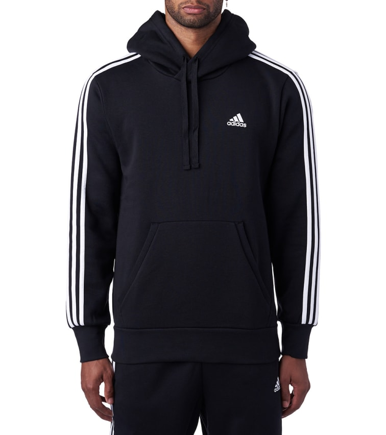 cheap for discount 7e136 d9fe0 Adidas Essential 3-Stripes Pullover Hoodie (Black) - BR3588-001 | Jimmy Jazz
