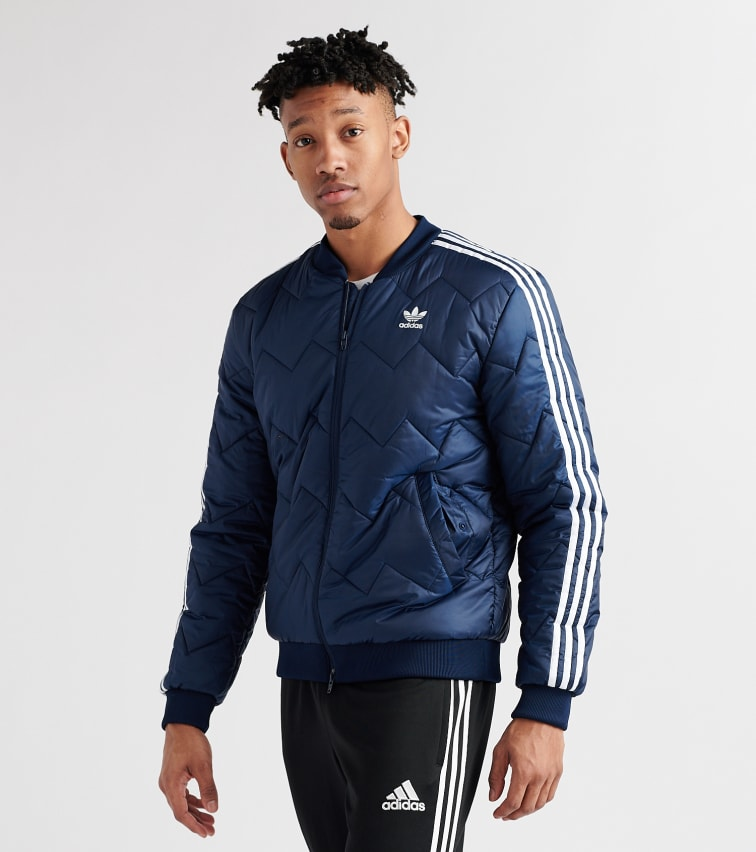 Adidas SST Quilted Jacket (Navy) DH5013 415 | Jimmy Jazz