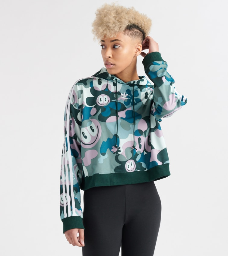Adidas Originals Sweatshirt »tropicalage Cropped Hoodie« Multi