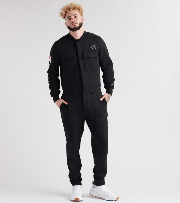 a0d8294e6b31 Champion Super Fleece 3.0 Coverall Jumpsuit (Black) - P2999354-003 ...