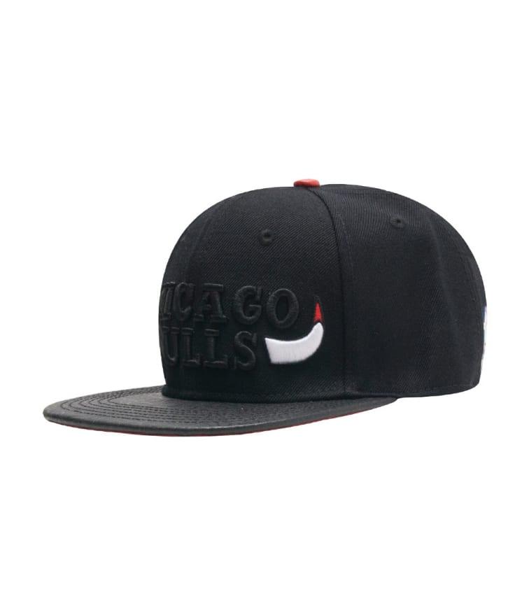 cf8fe4cc8cb Pro Standard Chicago Bulls Horns Leather Strapback (Black) - PNCHIB0610