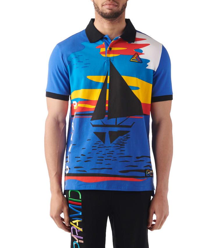 73ef4951 Black Pyramid Boat Short Sleeve Polo (Blue) - Y1161262-BLU | Jimmy Jazz