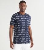 Tommy  Allover Hilfiger Tee  Navy - 09T3686-404 | Jimmy Jazz
