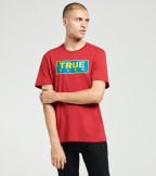 True Religion  Heavyweight Crew Neck Tee  Red - 104738-6000 | Jimmy Jazz