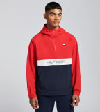 Tommy Hilfiger  Nylon Logo Packable Zipper Jacket  Red - 159AN703-RED | Jimmy Jazz