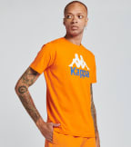 Kappa  Authentic Estessi Short Sleeve Tee  Orange - 304KPT0-A1D | Jimmy Jazz