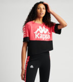 Kappa  222 Banda Balimnos Cropped Tee  Red - 304NQ10-AB4 | Jimmy Jazz
