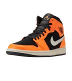 Jordan  1 Mid Sneaker  Orange - 554724-062 | Jimmy Jazz