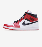 Jordan  Air Jordan 1 Mid Chicago  White - 554724-173 | Jimmy Jazz