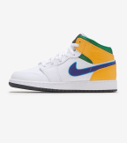 Jordan  Air Jordan 1 Mid  White - 554725-128 | Jimmy Jazz