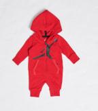 Jordan  Newborn Baby Jumpman Hooded Coveralls  Red - 555399-R78 | Jimmy Jazz
