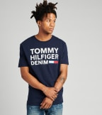 Tommy Hilfiger  Lock Up Flag Short Sleeve Tee  Navy - 78B8340-416 | Jimmy Jazz