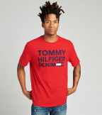 Tommy Hilfiger  Lock up Flag Short Sleeve Tee  Red - 78B8340-611 | Jimmy Jazz