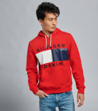 Tommy Hilfiger  Brooks Pullover Hoodie  Red - 78C9176-617   Jimmy Jazz