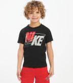 Nike  Boys 4-7 Split Nike Block Tee  Black - 86G253-023 | Jimmy Jazz