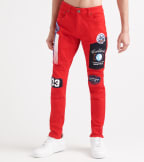 Decibel  Silicon Embossed Jeans - L34  Red - 933216L34-RED | Jimmy Jazz