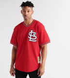 Mitchell And Ness  Ozzie Smith 1996 Cardinals BP Jersey  Red - ABPJGS18359-SCR | Jimmy Jazz