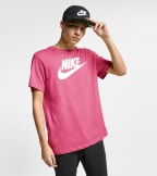 Nike  NSW Icon Futura Short Sleeve Tee  Pink - AR5004-684 | Jimmy Jazz