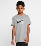 Nike  Nike Boys Swoosh For Life Tee  Grey - CT2632-091 | Jimmy Jazz