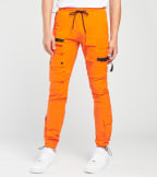 Decibel  Cargo Nylon Pants   Orange - FW20B317-ORG | Jimmy Jazz