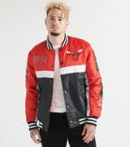 Unk  Bulls Satin Jacket  Red - GOM7718FCB-RDB | Jimmy Jazz